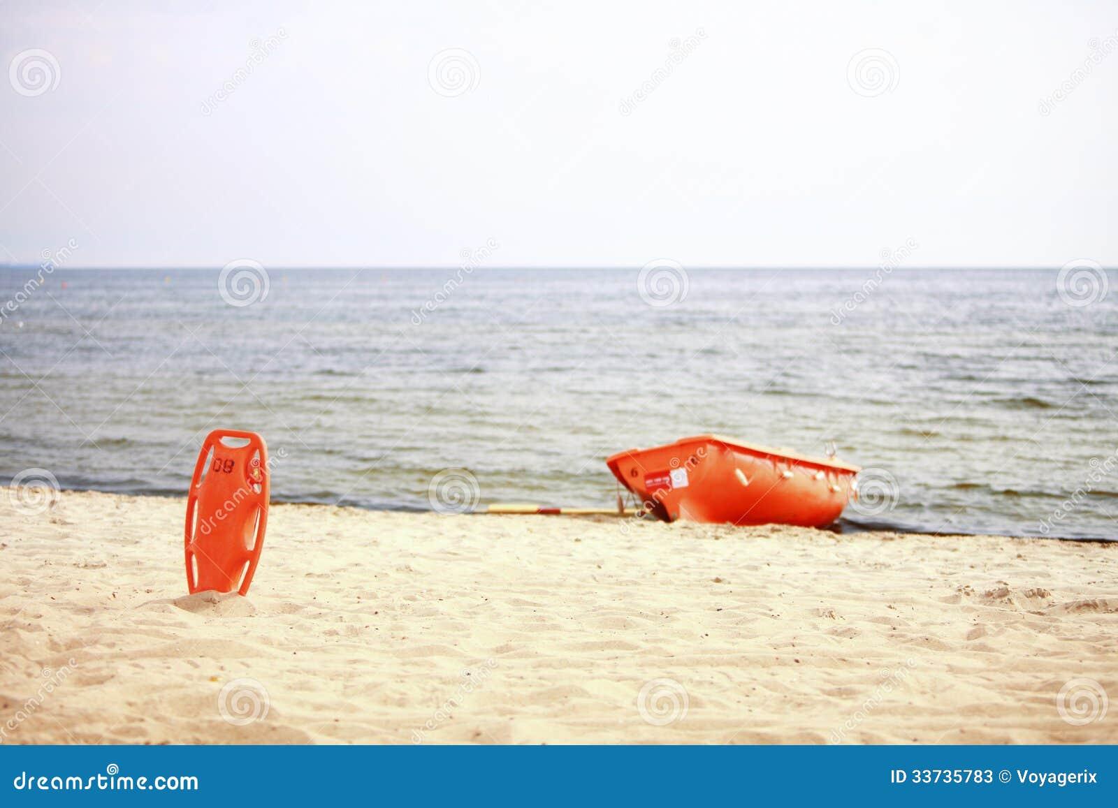 Спасательное оборудование пляжа личной охраны