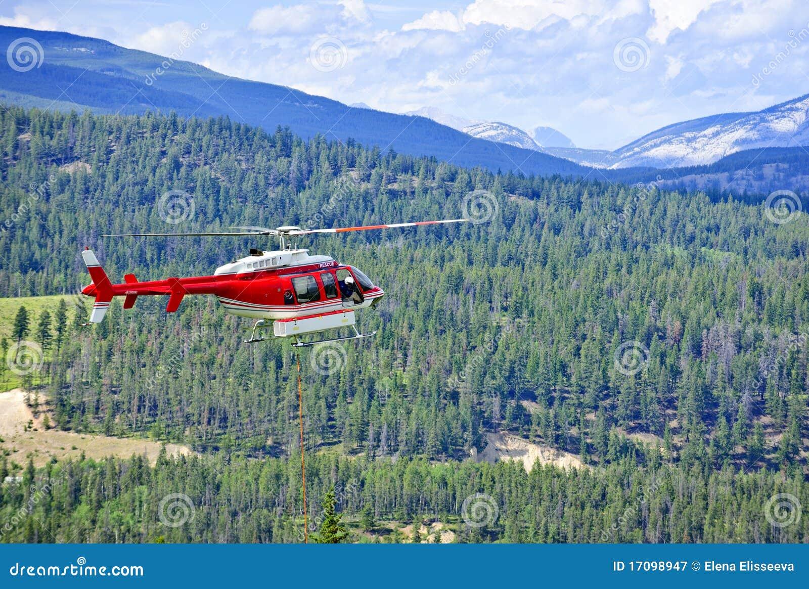спасение гор вертолета
