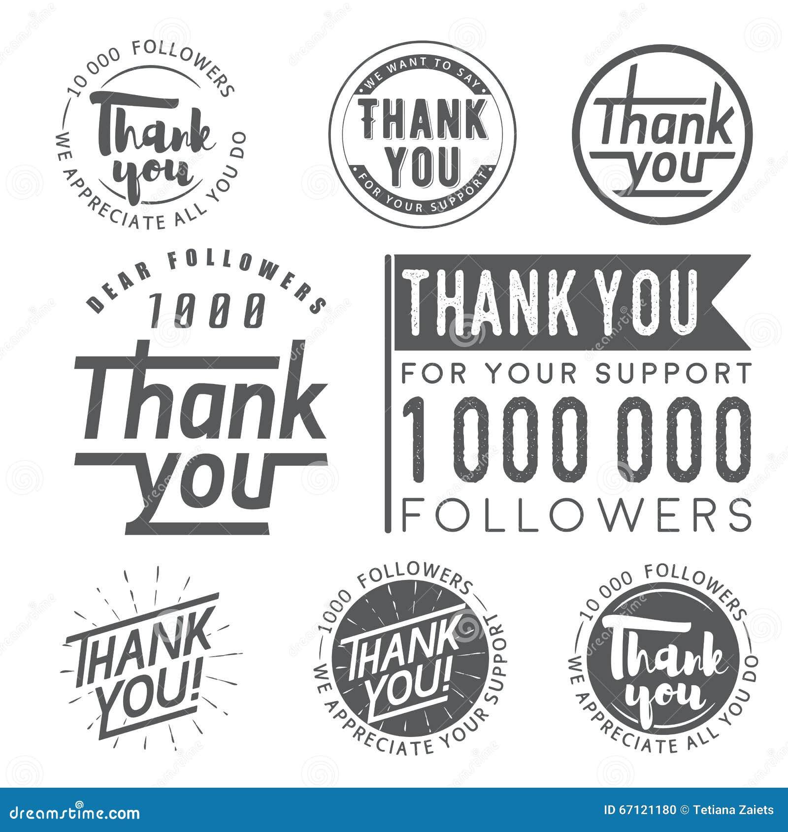 Спасибо значки, ярлыки и стикеры для следующих
