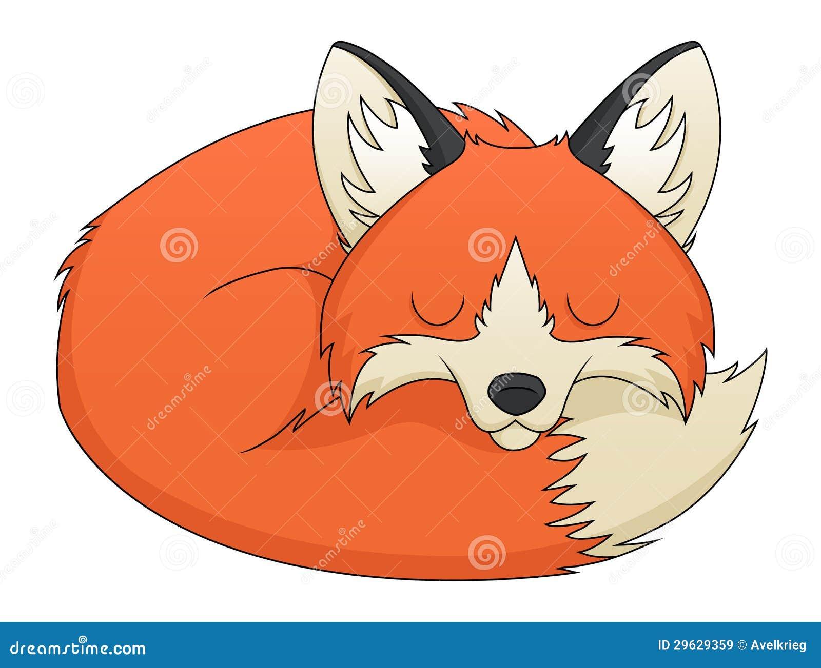 Рисунки спящей лисы