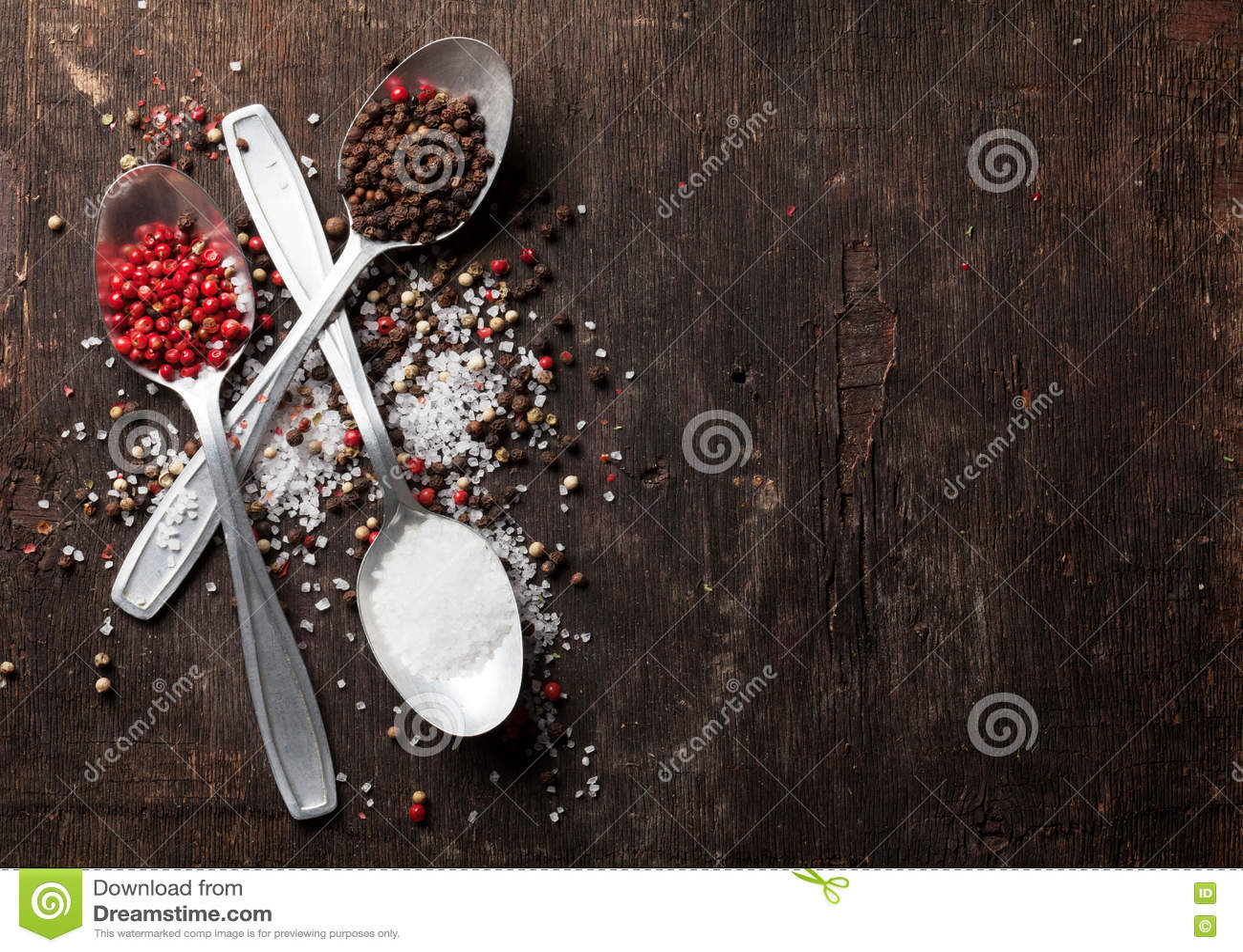 Специи перца и соли
