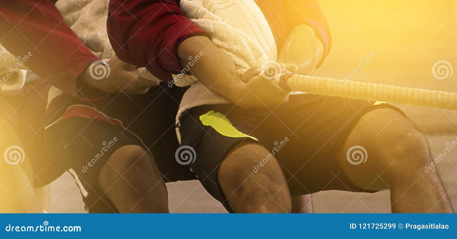 Спичка гужа сражения командного игрока для игры тяги