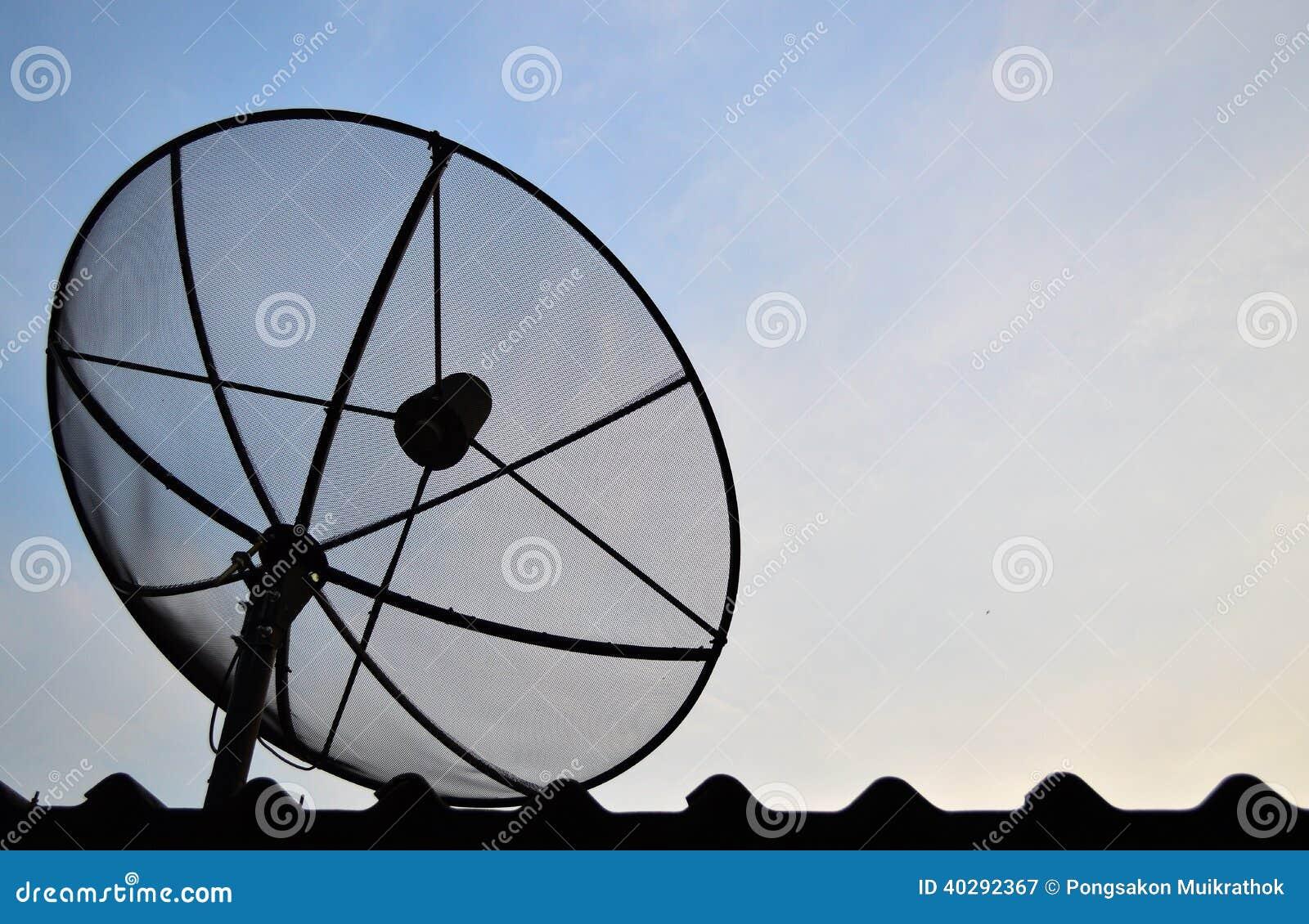 Спутниковая антенна-тарелка спутника связи антенны