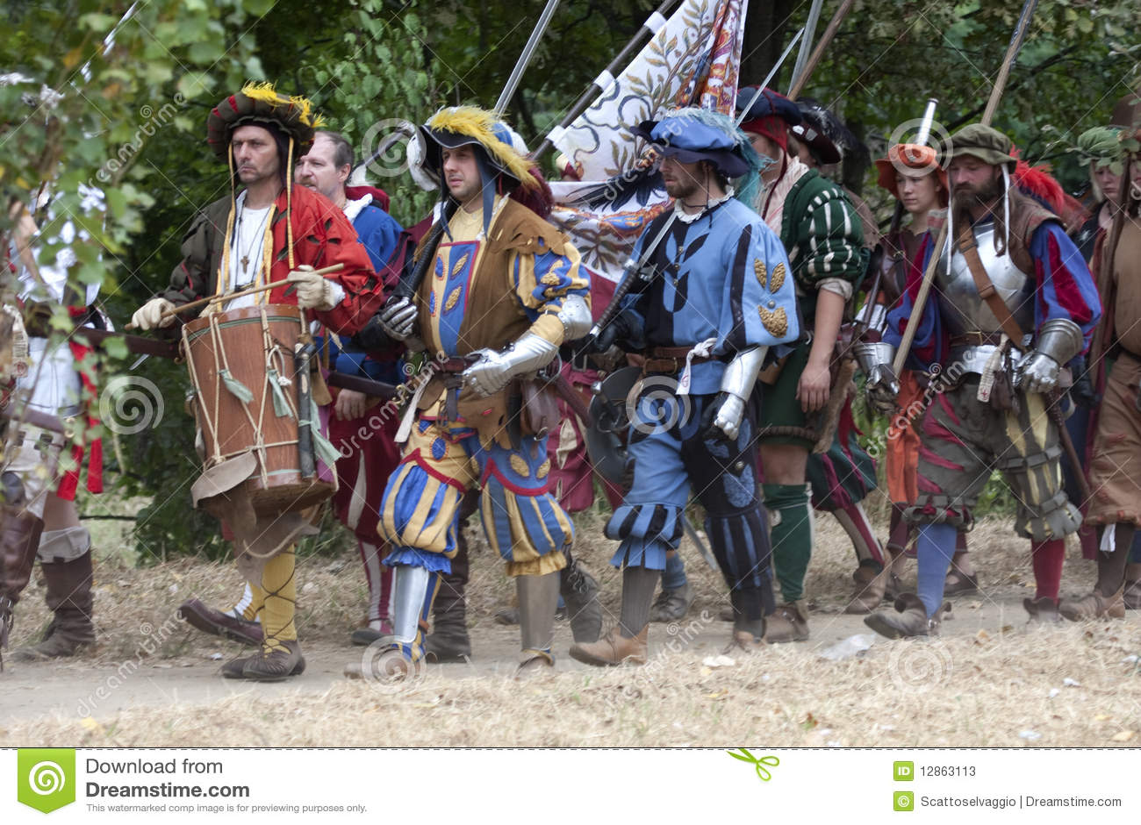 сражения landsknechts pavia -го марш