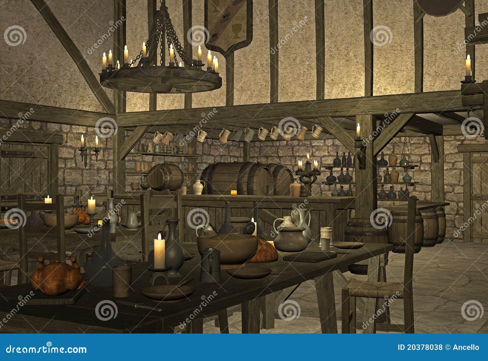 средневековая харчевня