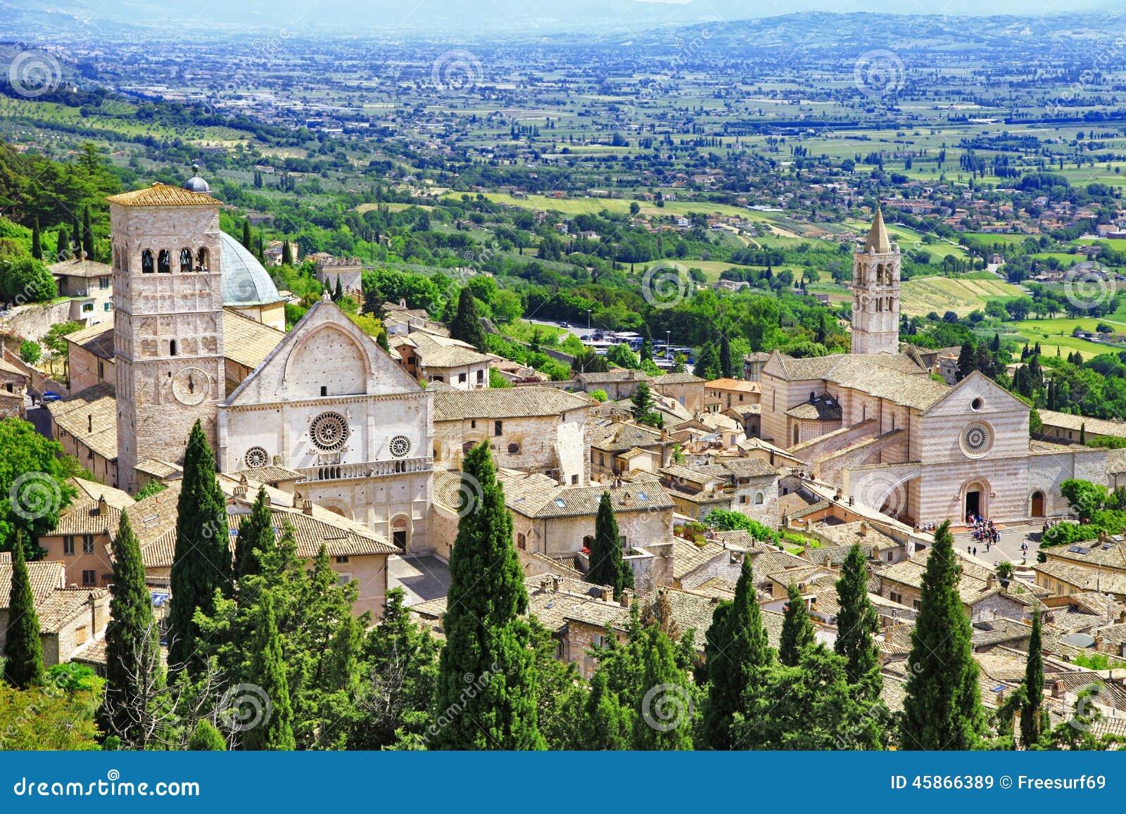 Средневековое Assisi, Умбрия, Италия