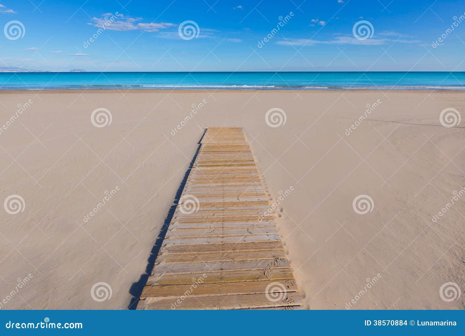 Среднеземноморское пляжа Аликанте Сан-Хуана красивое