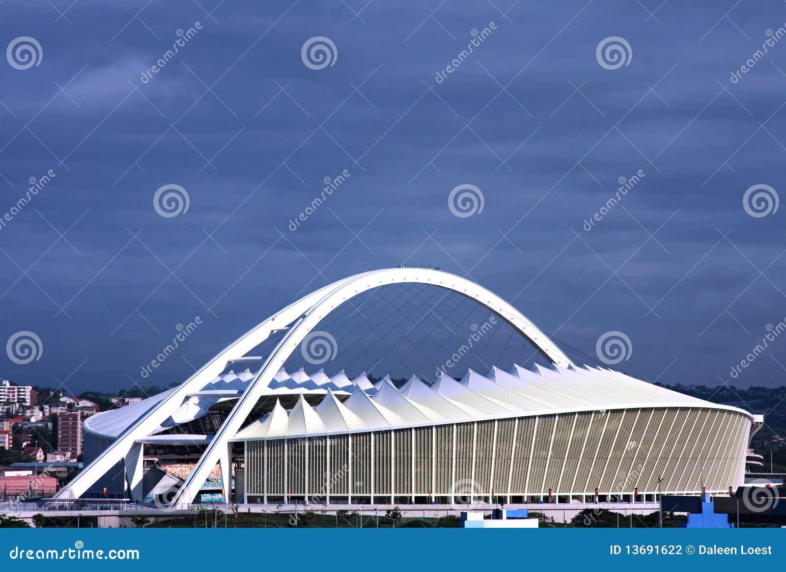 стадион футбола Моисея mabhida Африки южный