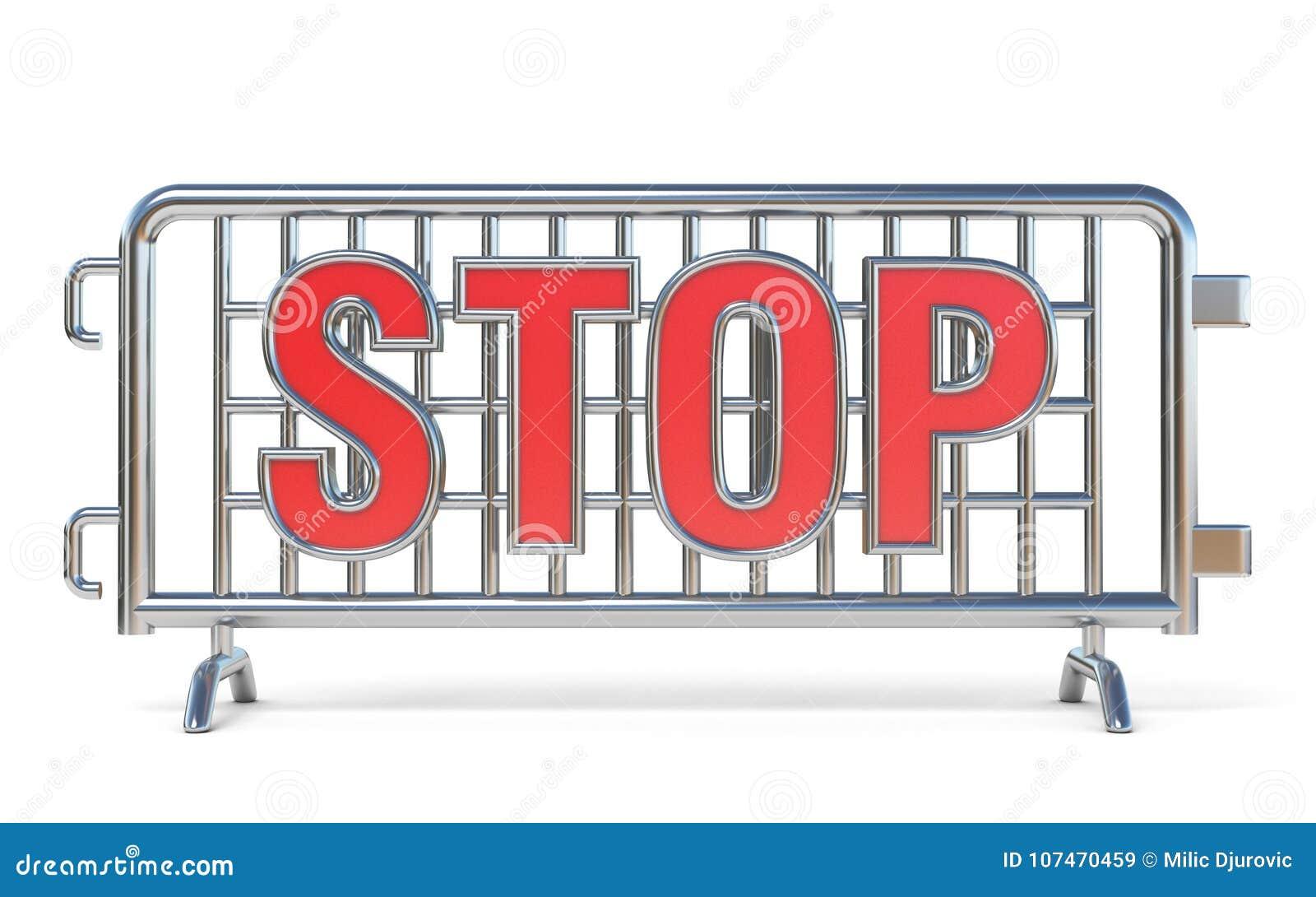 Стальной знак 3D СТОПА баррикад