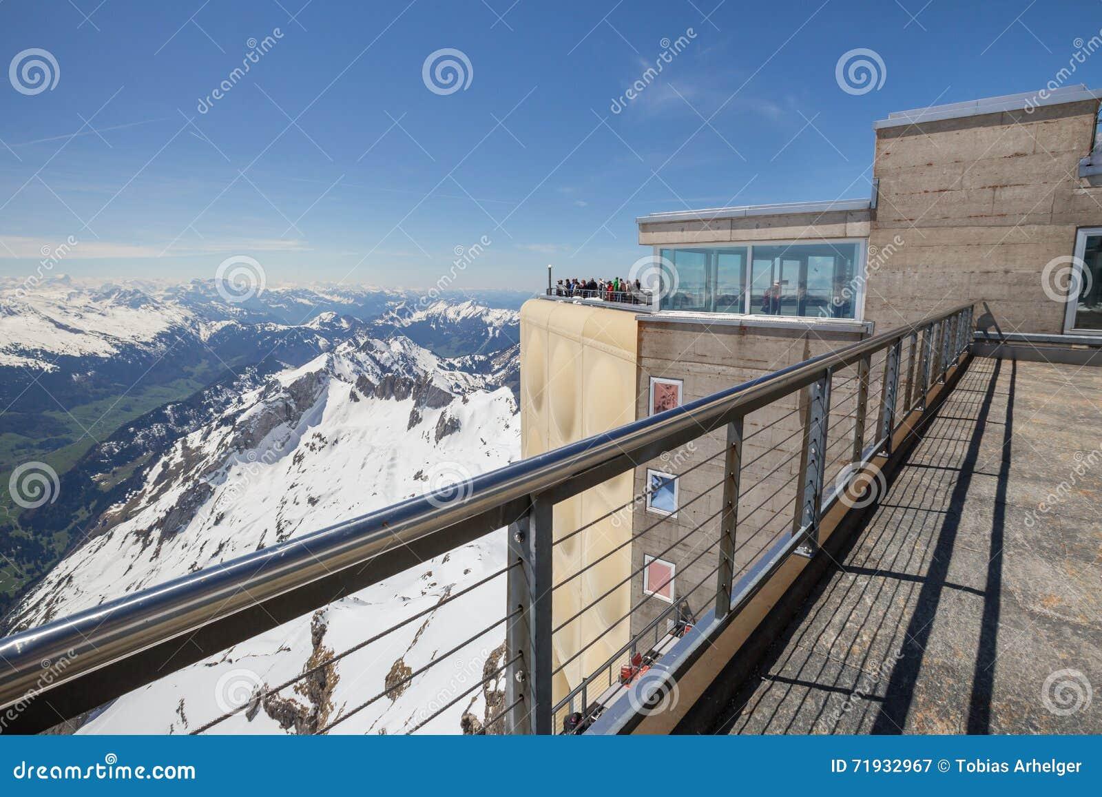 станция Швейцария горы saentis