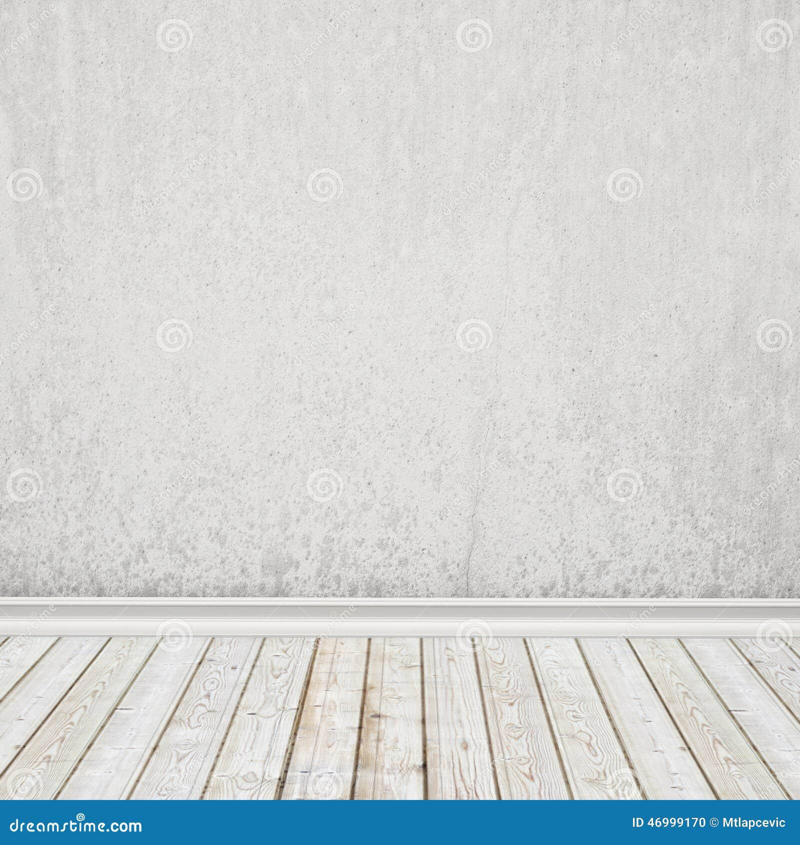 Старая белизна покрасила стену и винтажный деревянный пол, внутреннюю предпосылку
