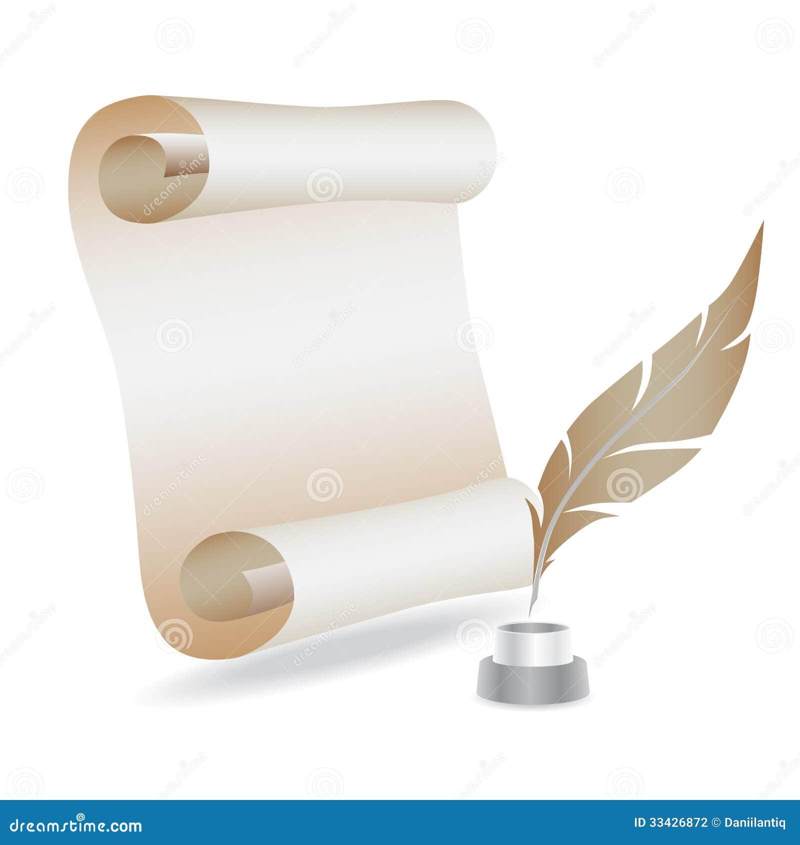 фото перо и бумага