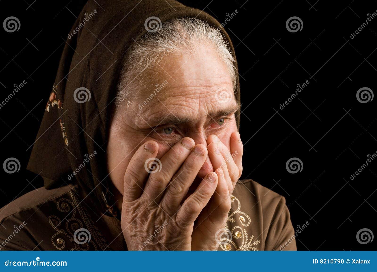 старая женщина тоскливости