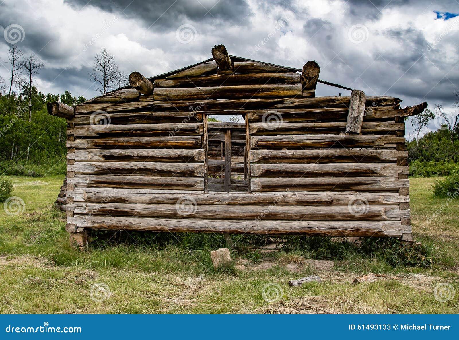 Старая кабина в Вайоминге