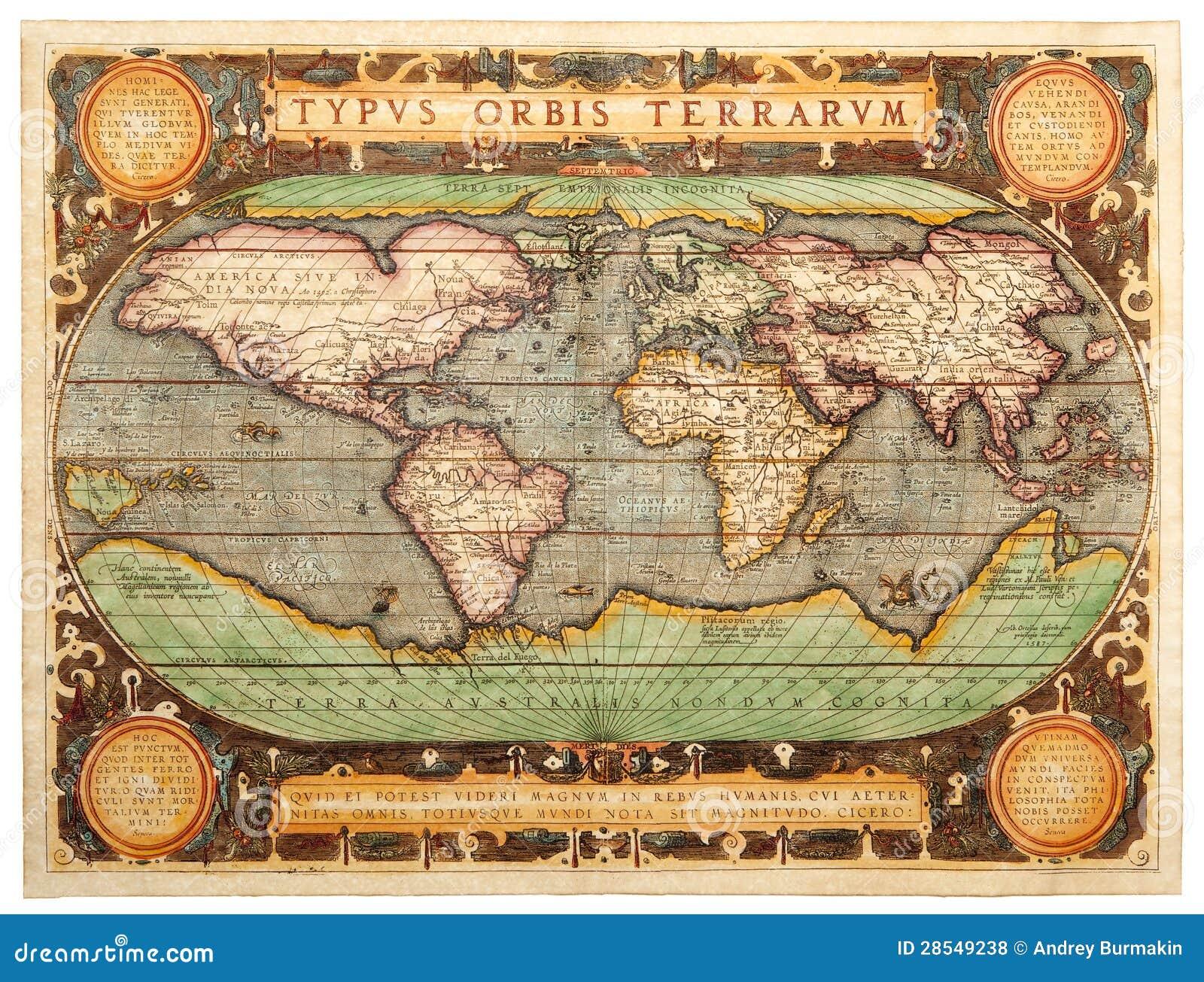 Старая карта (1587)