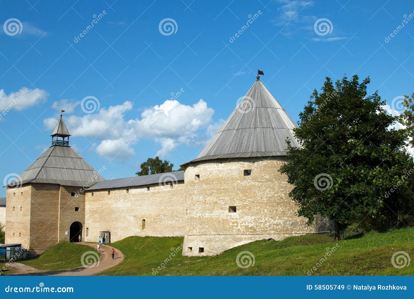 Старая крепость Ladoga Россия средневеково