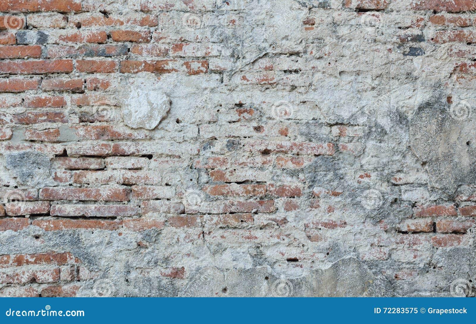 Download Старая поврежденная текстура кирпичной стены Стоковое Изображение - изображение насчитывающей красно, vintage: 72283575