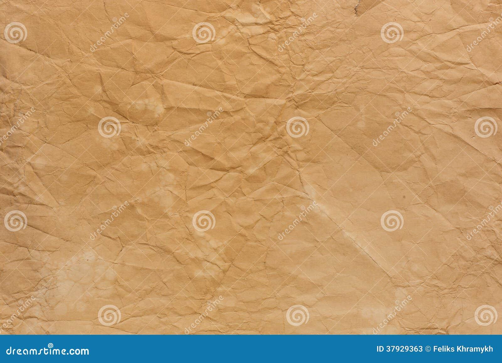 Старая скомканная бумажная текстура
