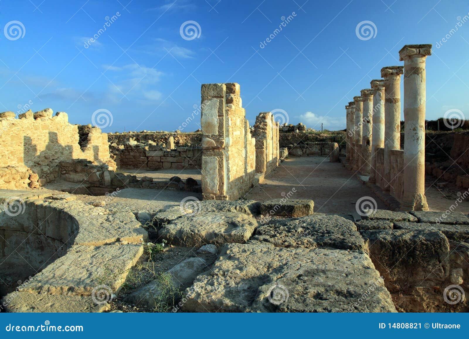стародедовский висок руин paphos Кипра