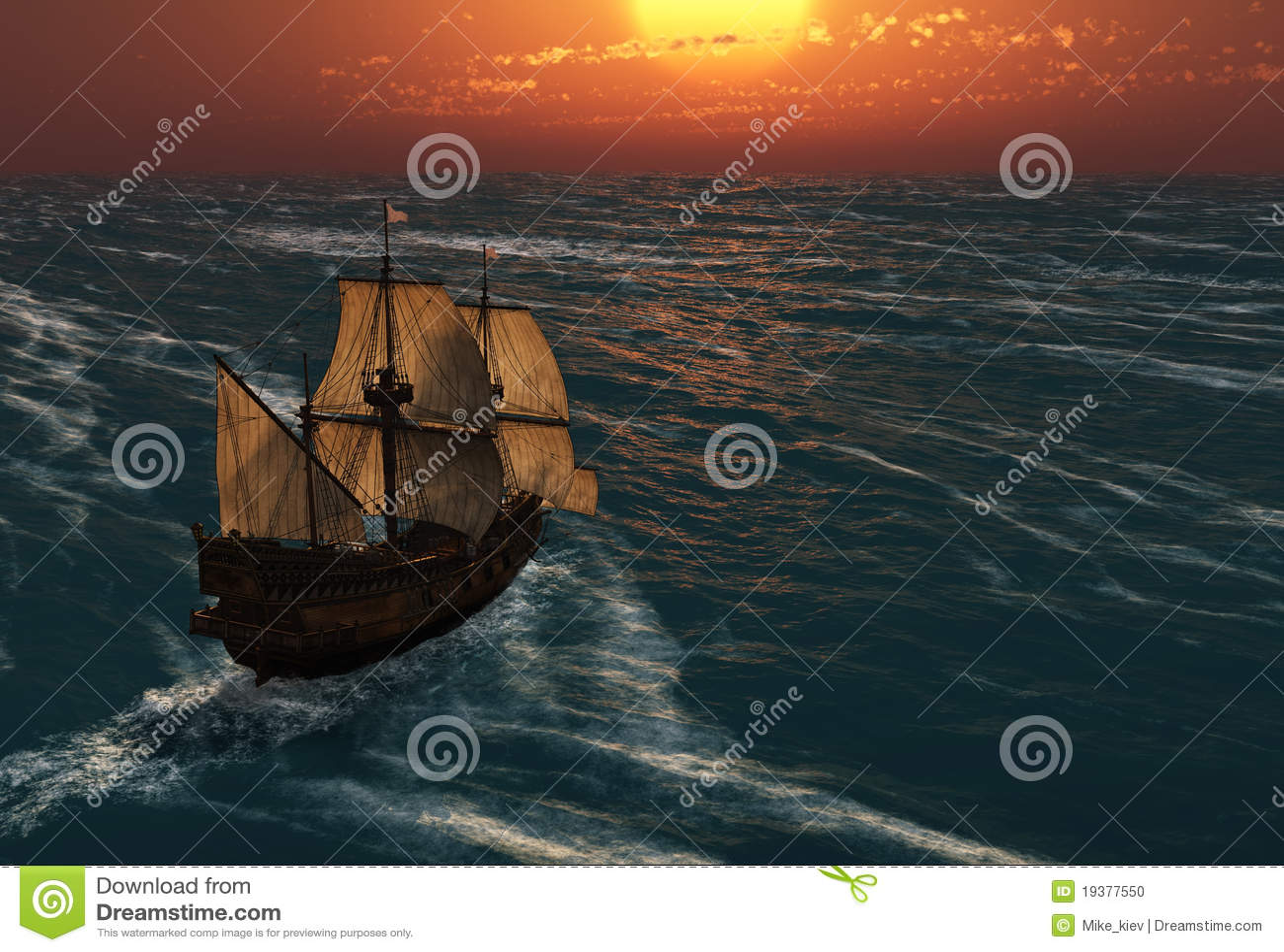 стародедовский заход солнца корабля sailing