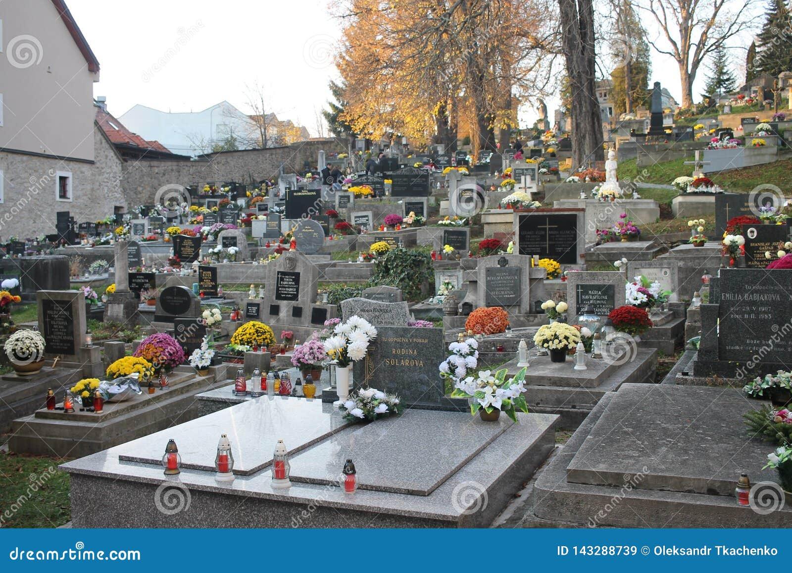 Старое кладбище в старом centrum города Banska Bystrica