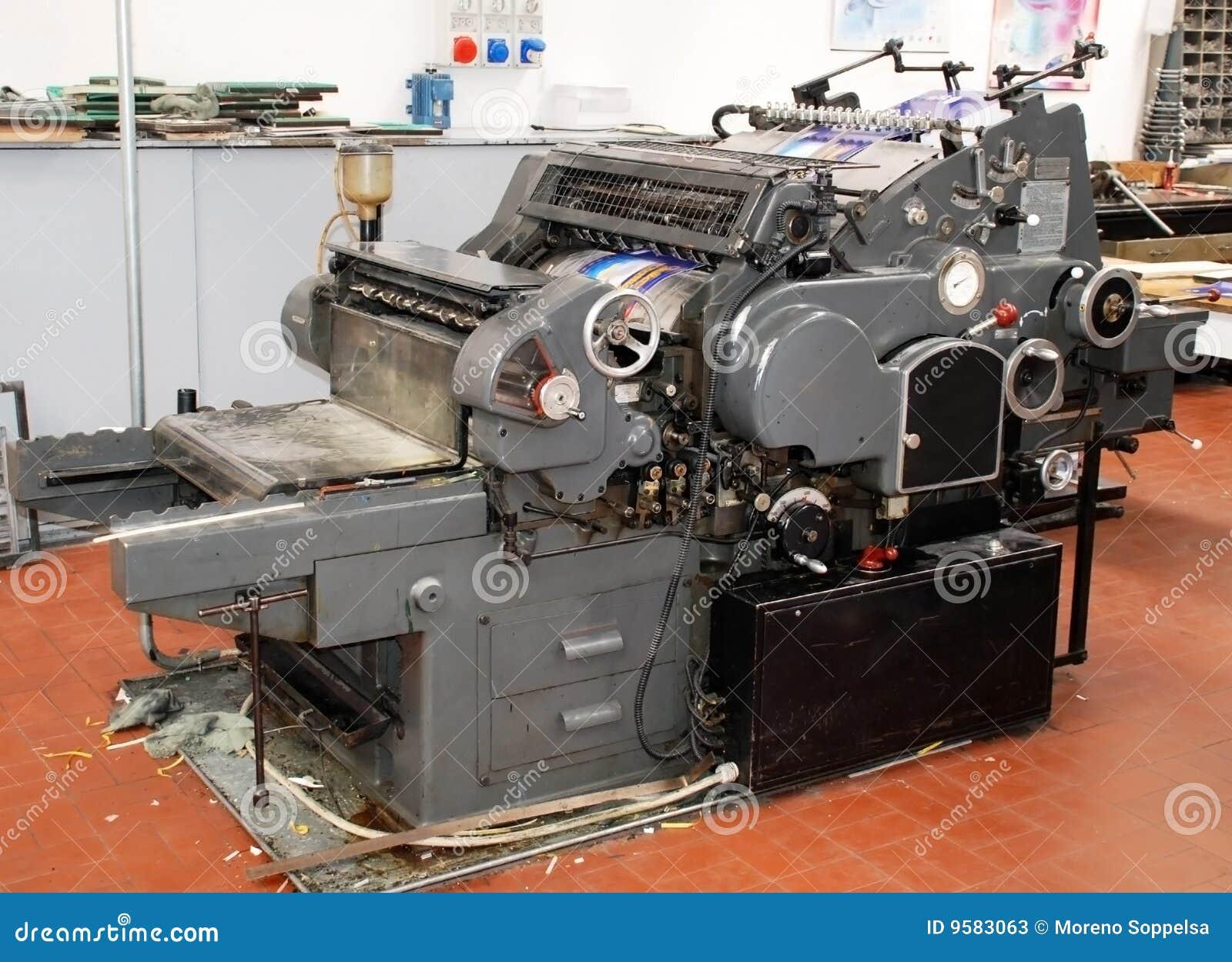 старое печатание давления