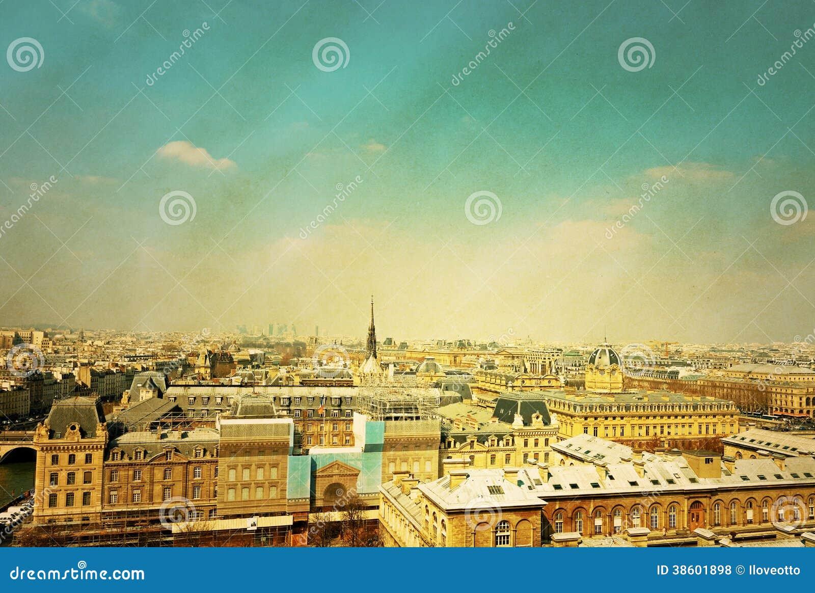 Старомодный Париж Франция