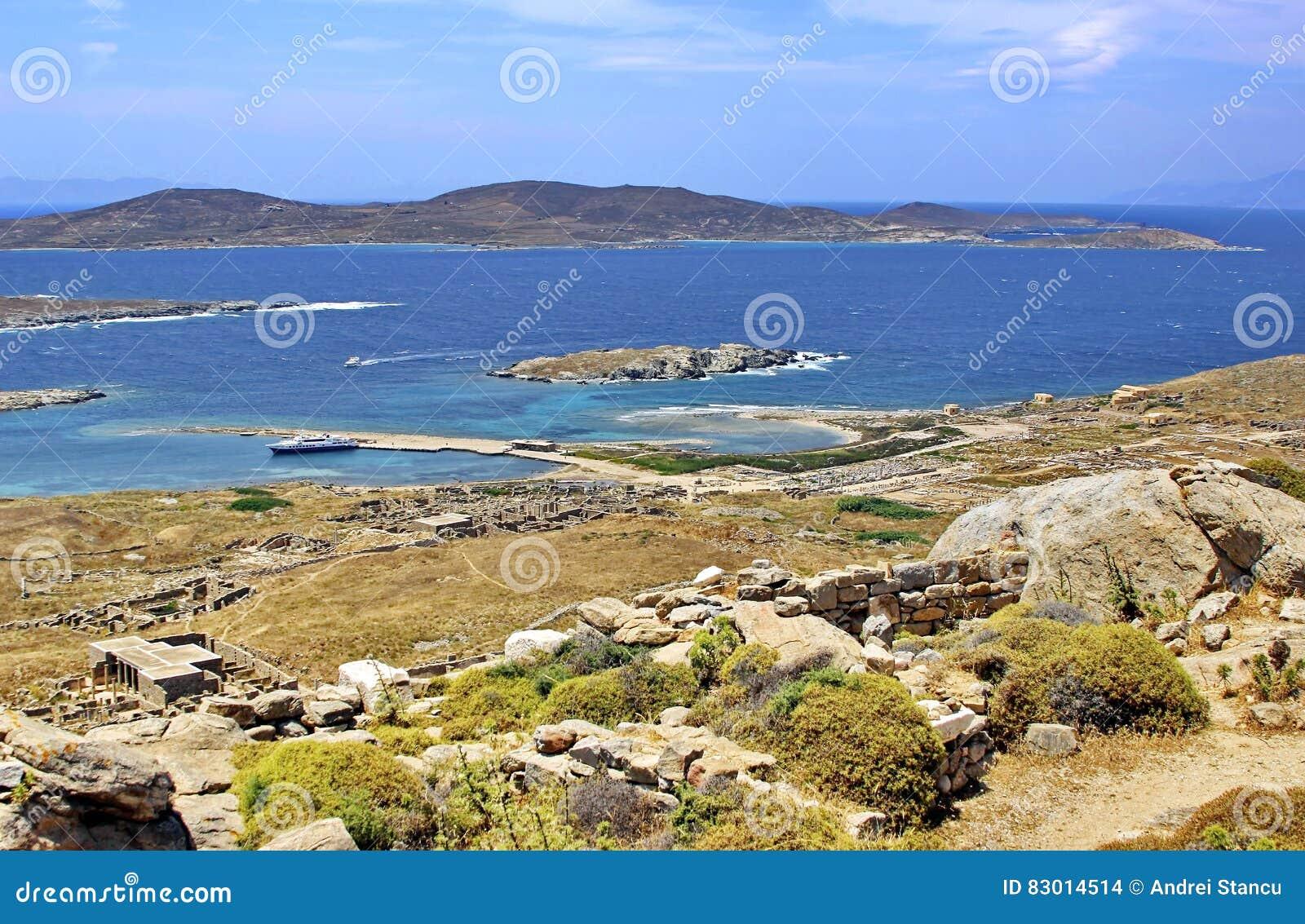 стародедовские руины Греции delos