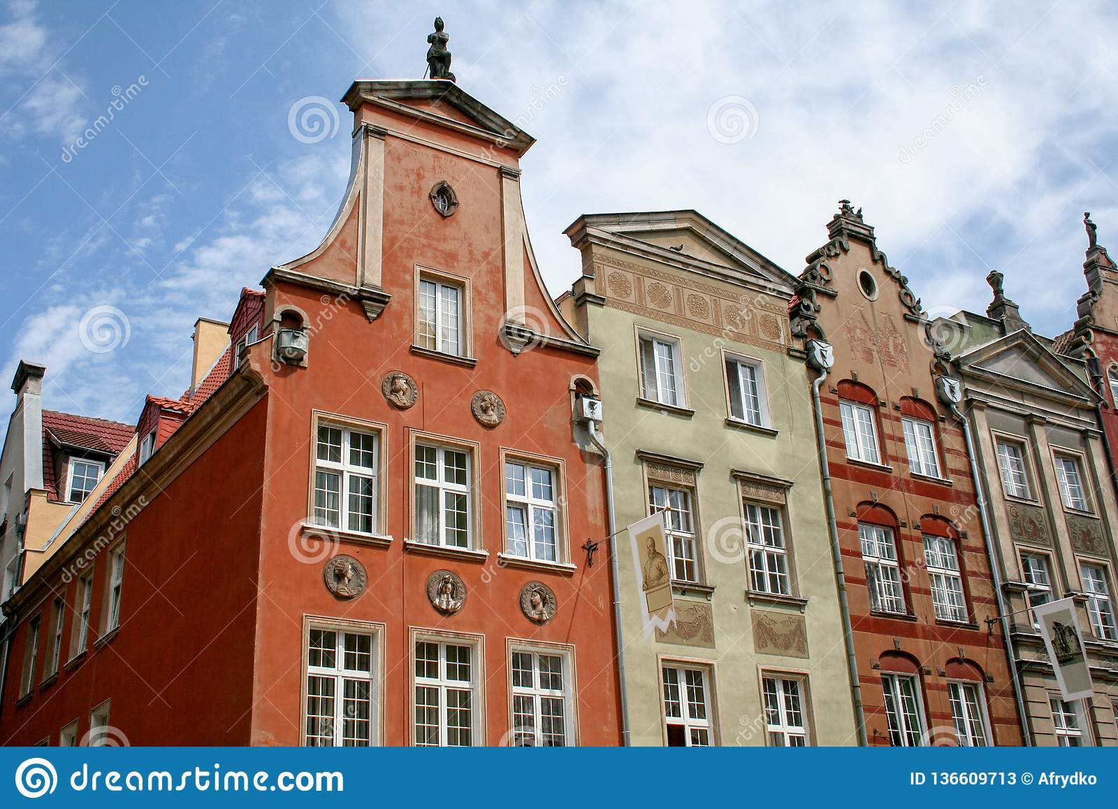 Старые здания в Гданьск, Польша