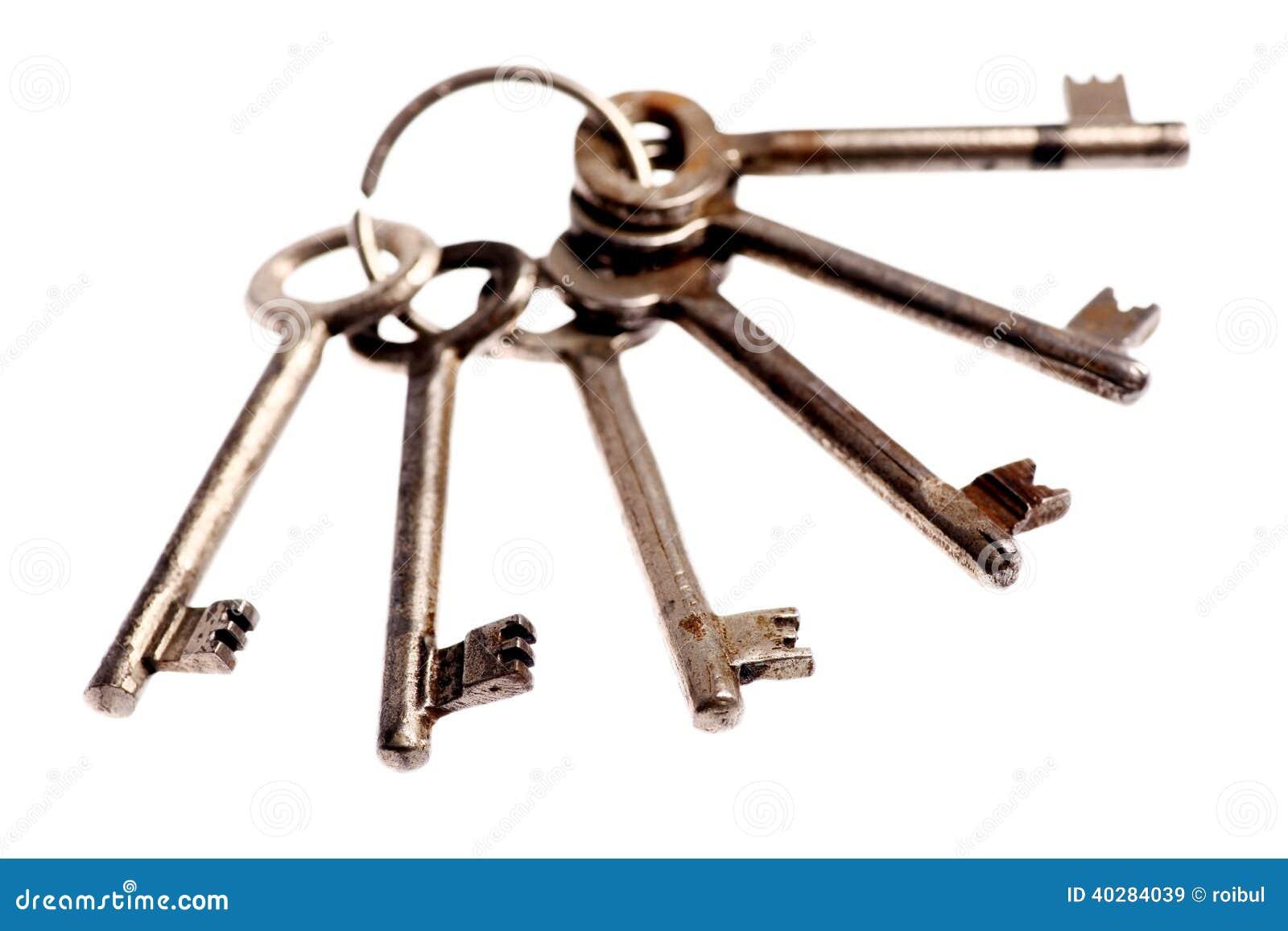 Старые и ржавые ключи двери