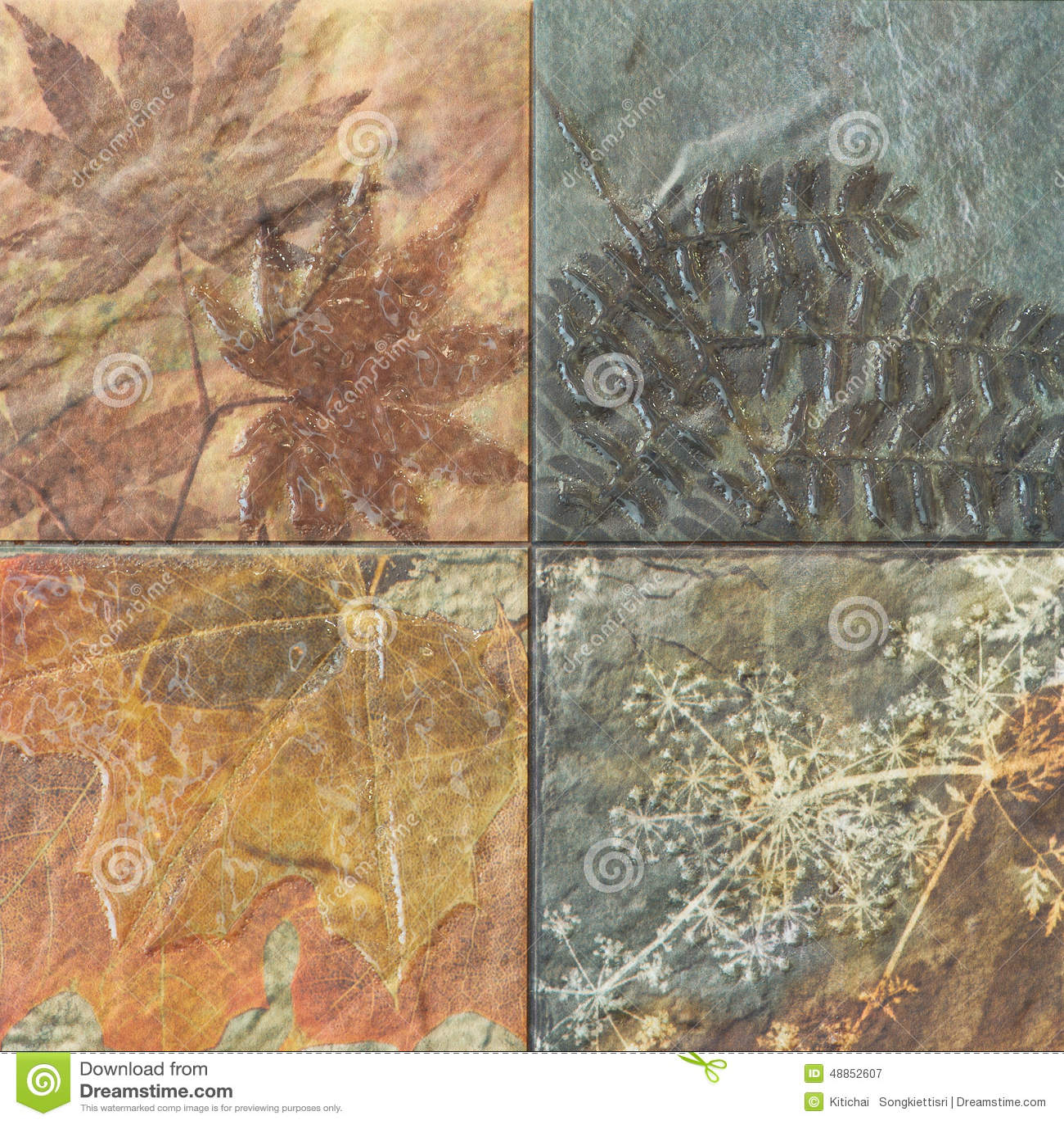 Старые картины керамических плиток стены handcraft от публики Таиланда