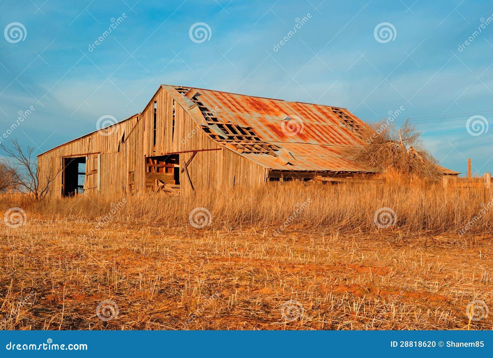 Старый амбар сена