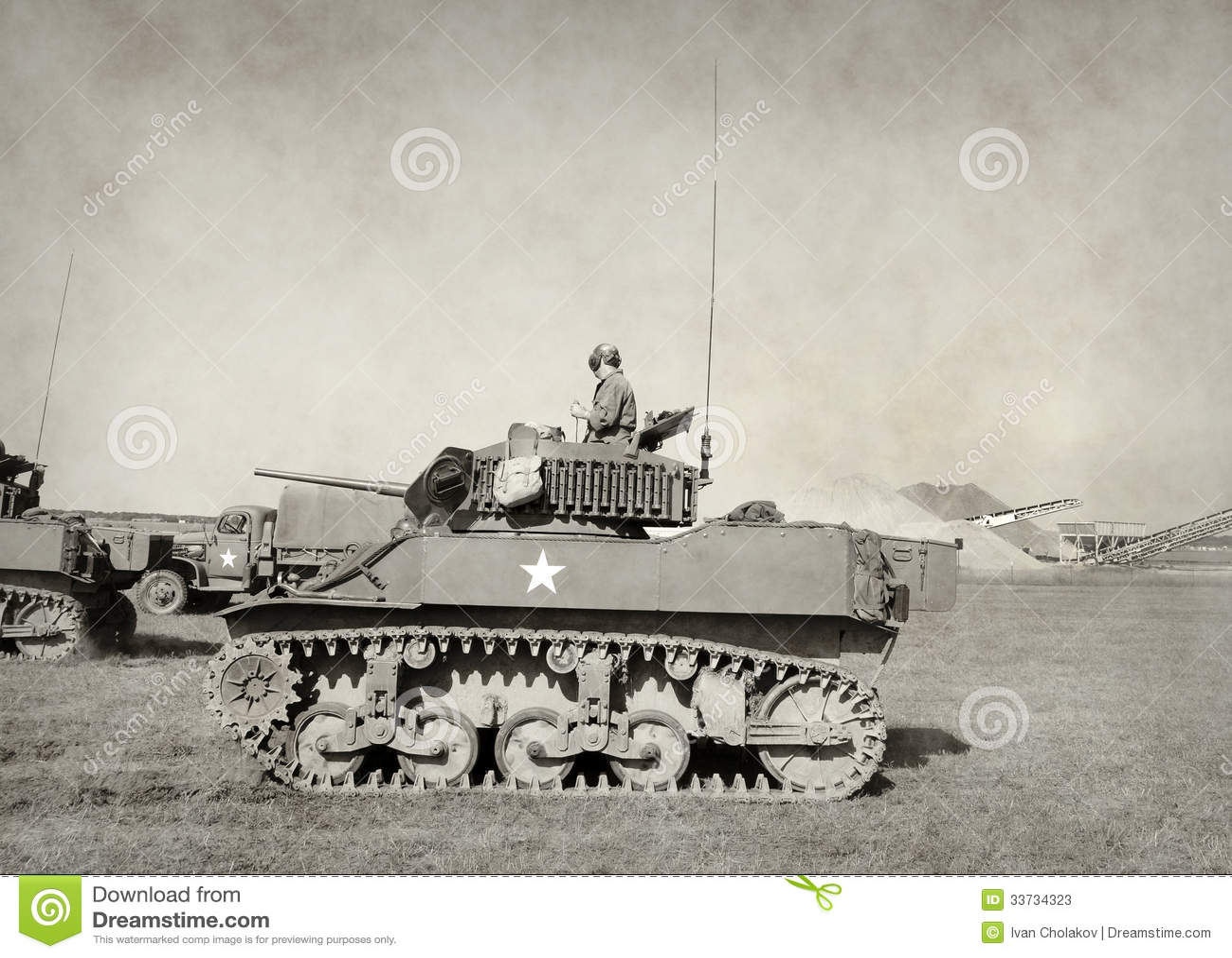Старый американский танк