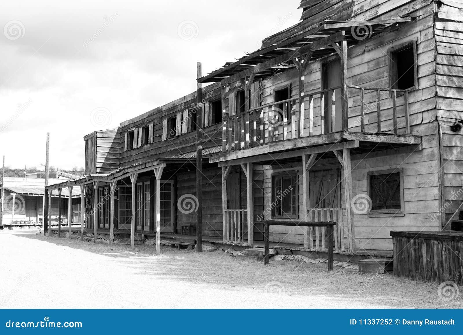 старый городок США салона на запад одичалый Стоковое Фото