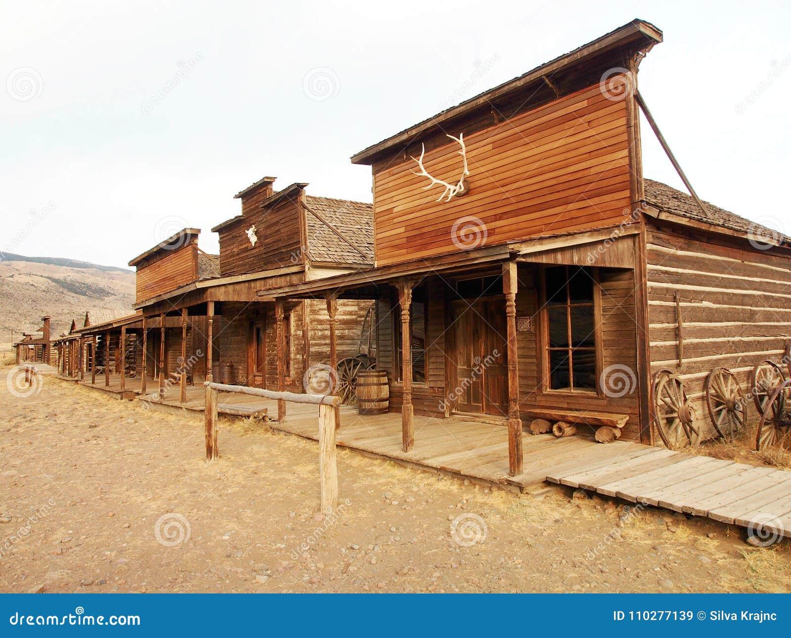 Старый западный, старый городок следа, Коди, Вайоминг, Соединенные Штаты