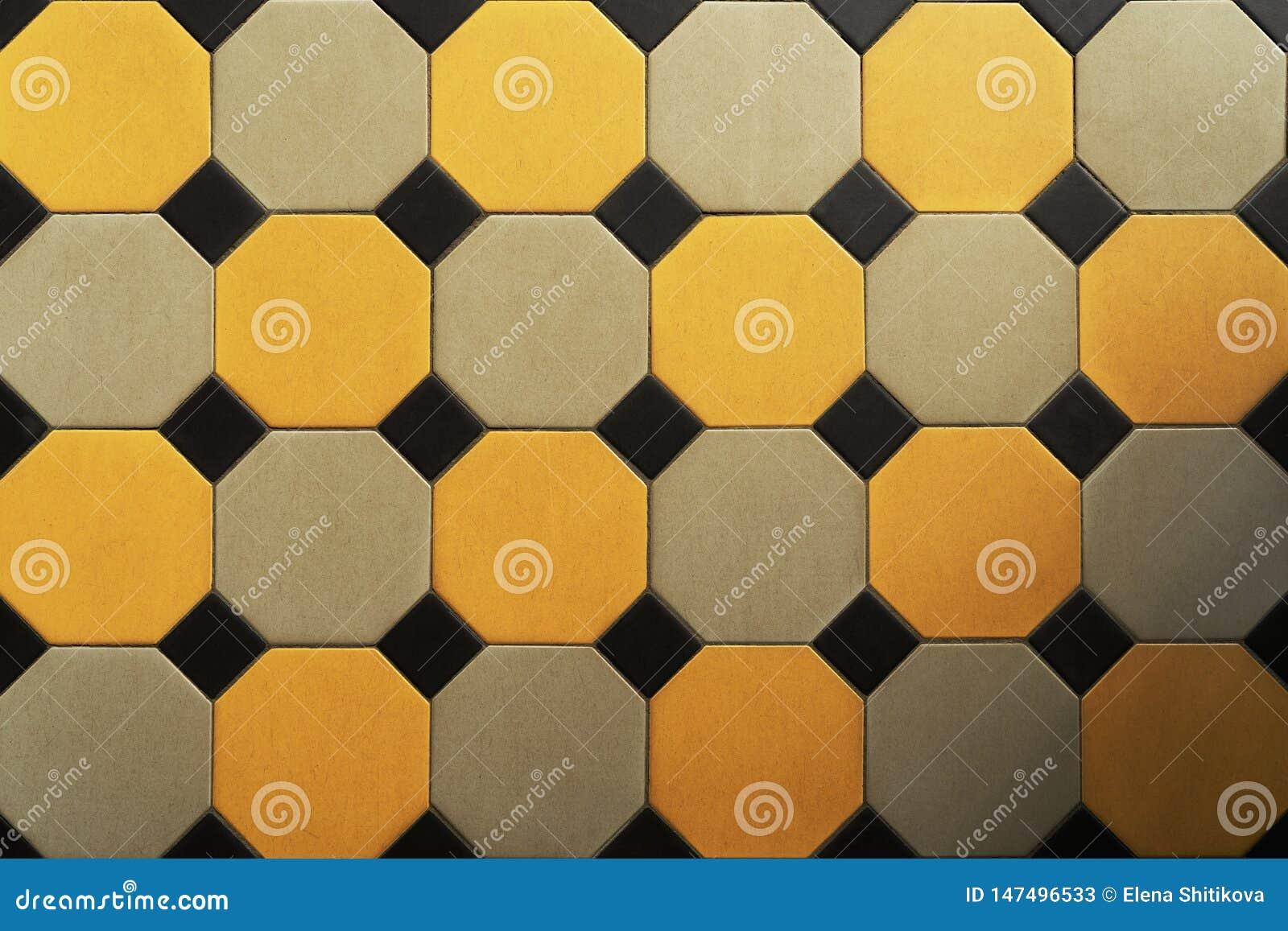 Старый кафельный пол Шестиугольник E (