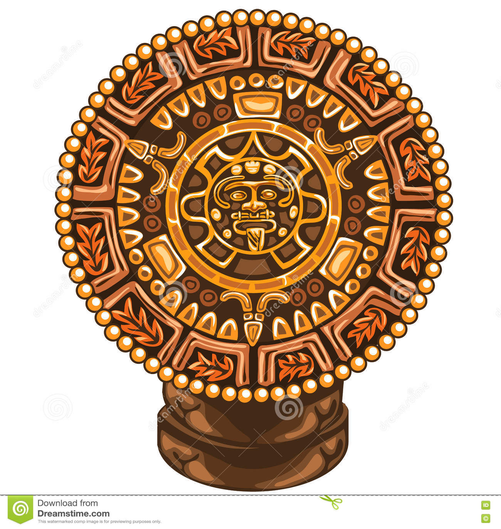 Старый календарь Майя на белой предпосылке