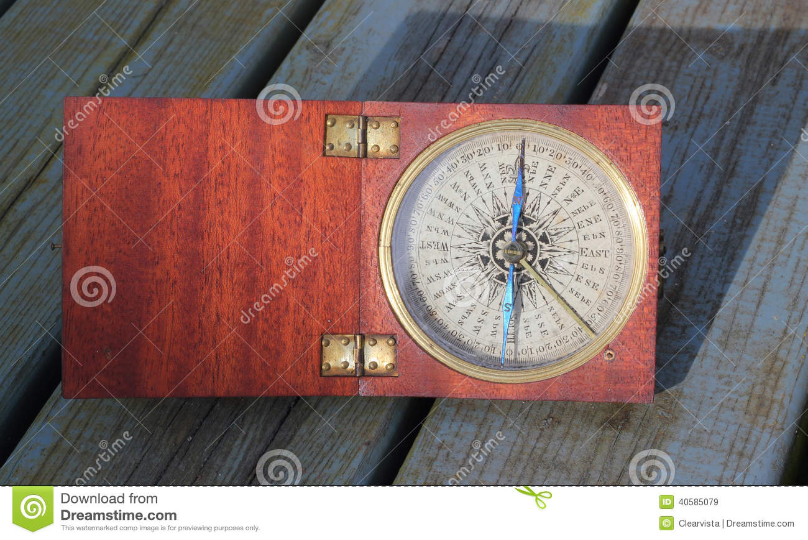 Download Старый компас в деревянной коробке Стоковое Изображение - изображение насчитывающей bowwow, заключено: 40585079