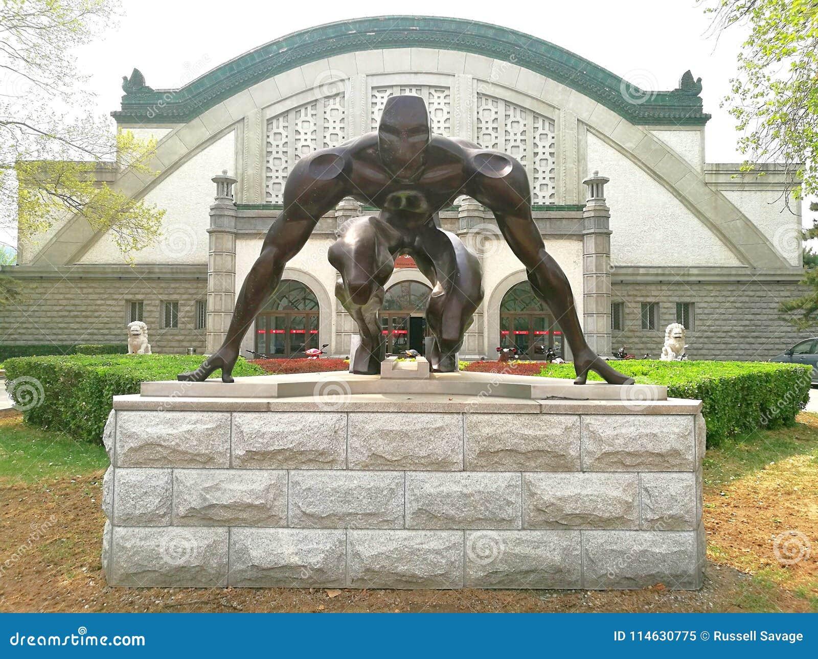 Статуя исходного рубежа спортсмена бегуна