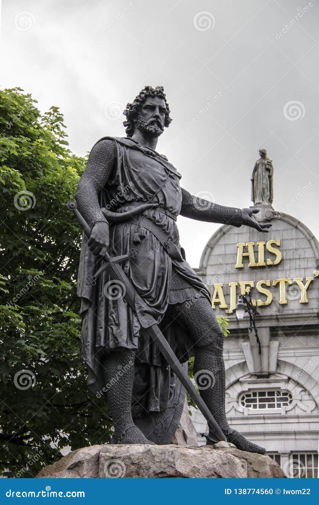 Статуя Уильям Уоллес, Абердин, Шотландия