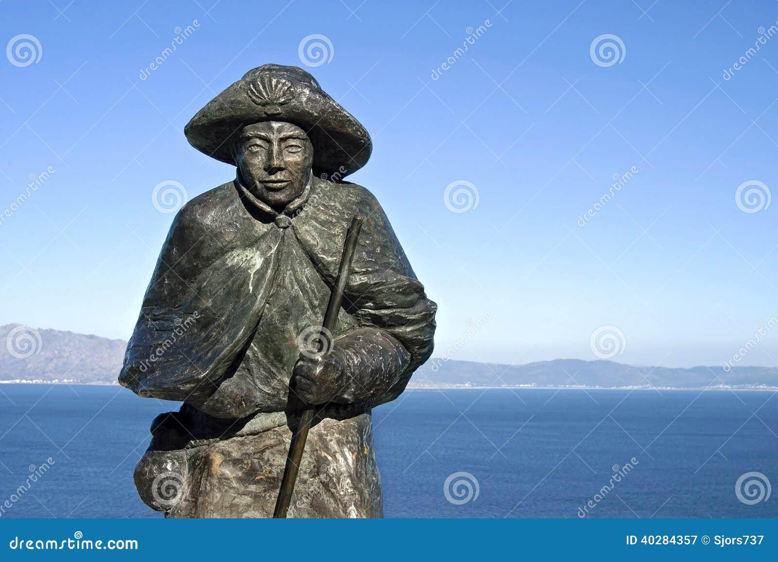 Статуя St James, гор, Атлантического океана