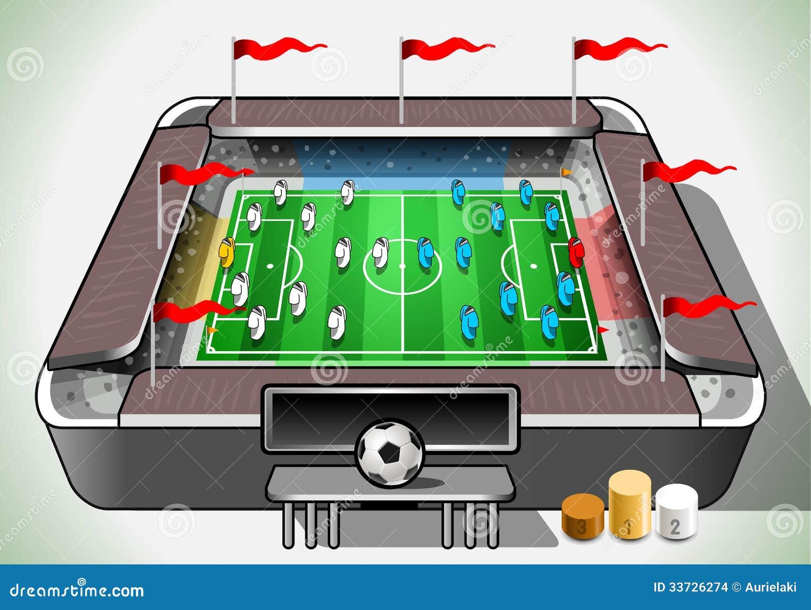 Стадион информации графический с указателем места заполнения игрока