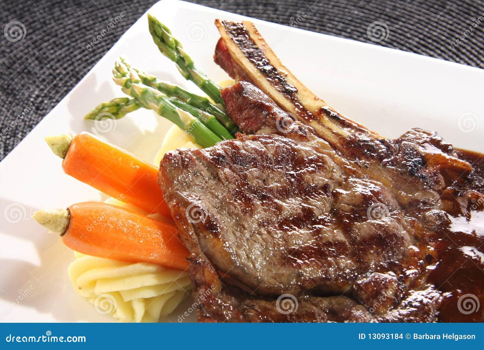 стейк обеда