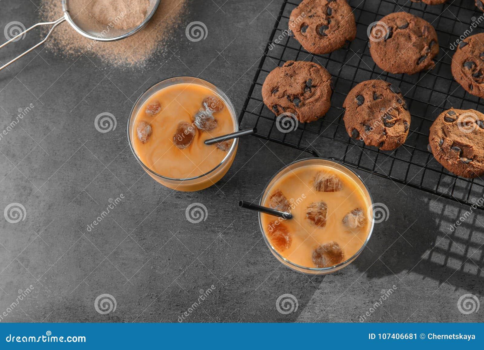 Стекла с очень вкусным замороженным кофе