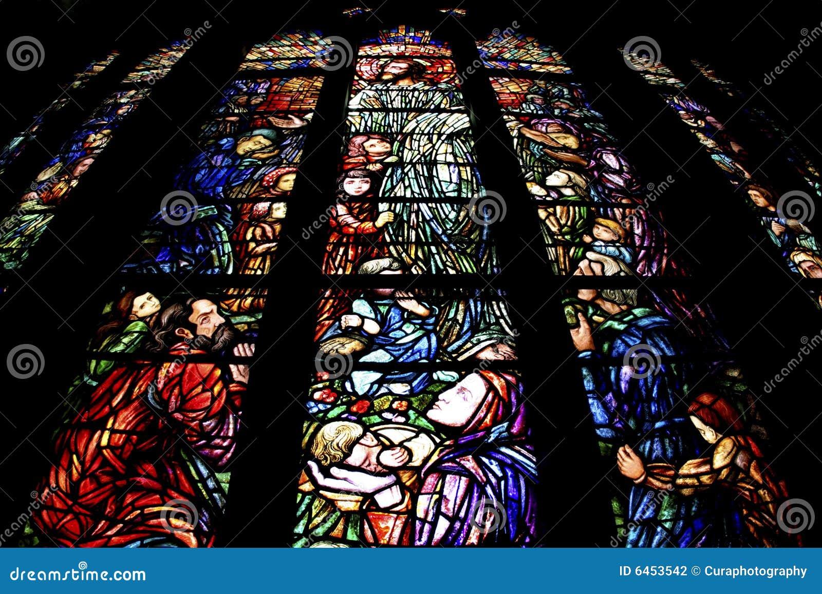 стекло церков запятнало