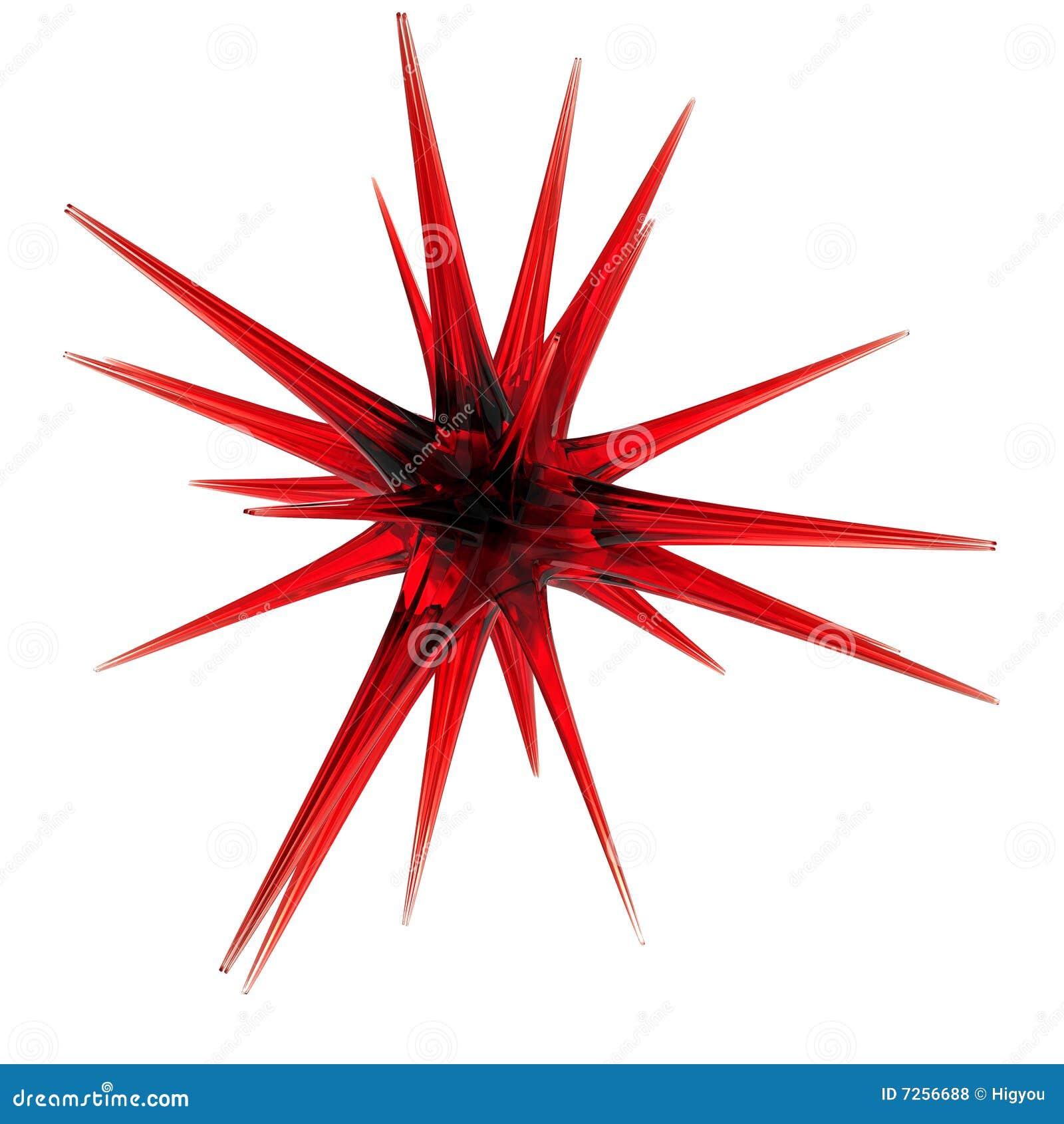 стеклянная красная звезда