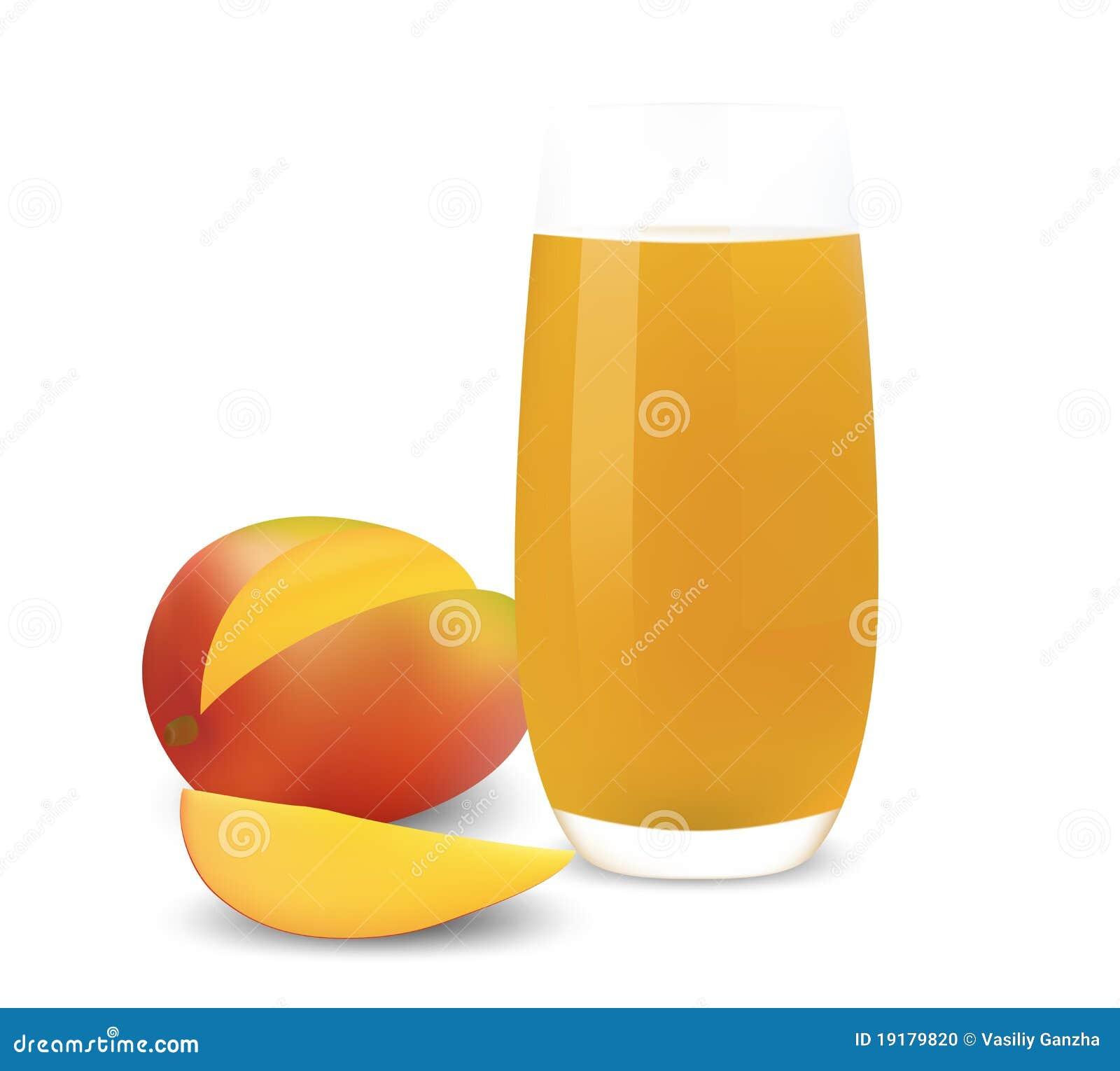 стеклянный манго сока