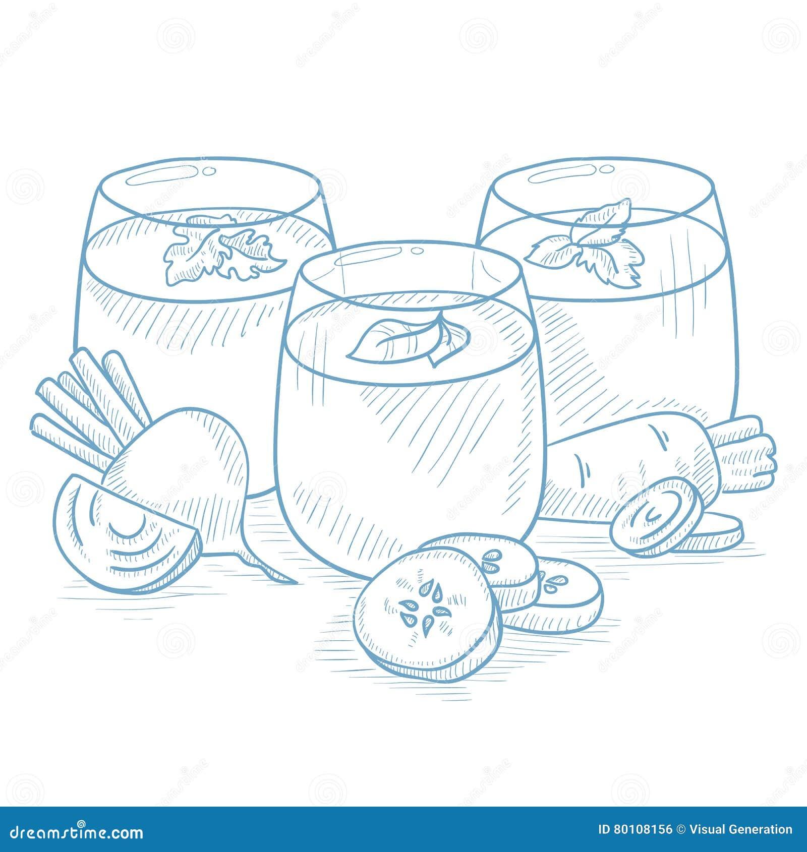 Стекла свеже сжиманных vegetable соков