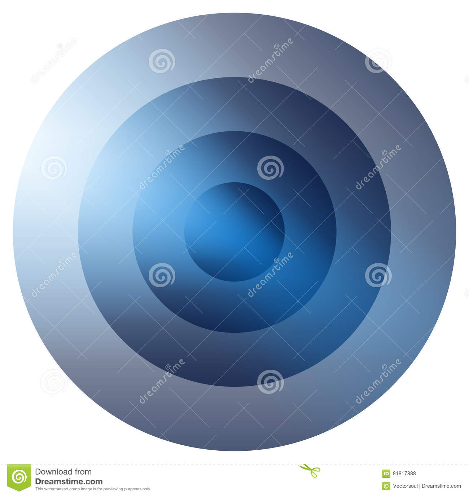 Стекловидный красочный излучать, элемент концентрических кругов Накаляя b
