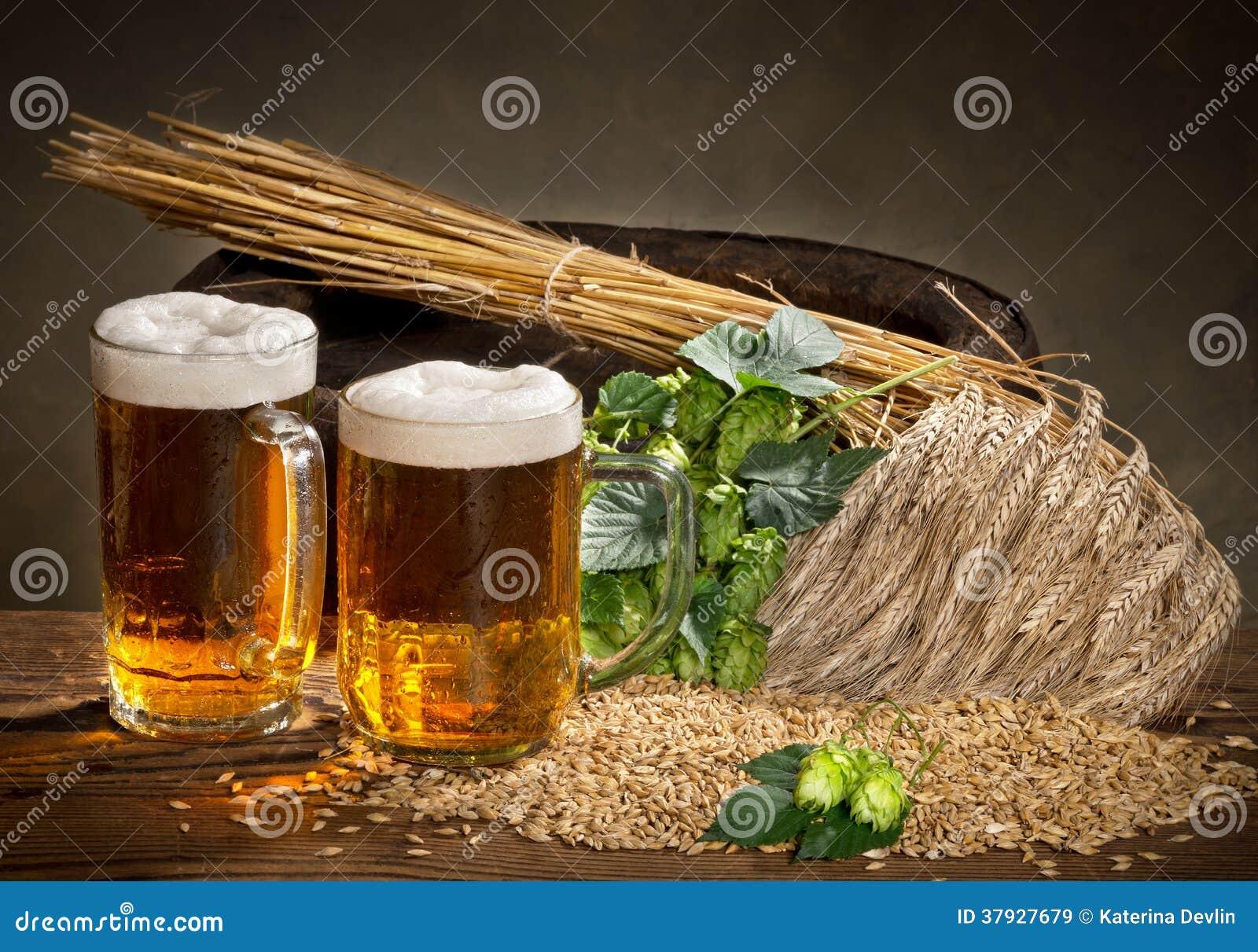Стекло и хмели пива
